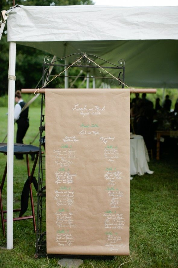 Kraft Paper Seating Chart