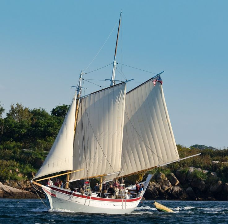 The Schooner Ardelle: Daily Sails from early May to October Departing from Maritime Gloucester, Massachusetts.
