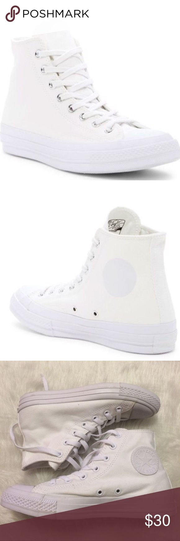 🎉1 HOUR SALE! Converse Chuck Taylor's all white No box Converse Shoes Sneakers
