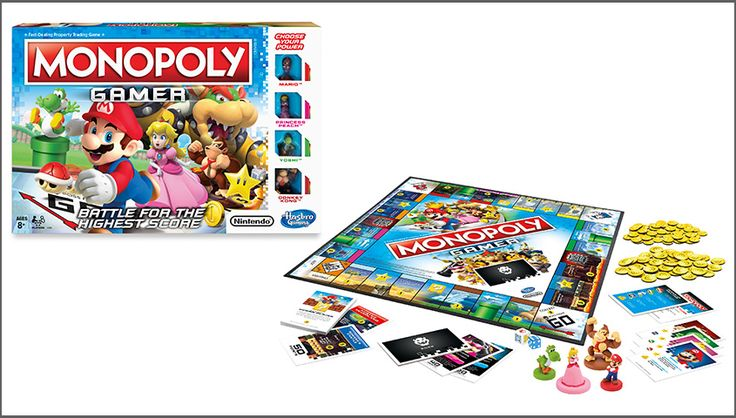 The MONOPOLY brand from Hasbro and Nintendo today announced the launch of the MONOPOLY GAMER Edition game that introduces beloved Nintendo characters and new twists to the MONOPOLY game.