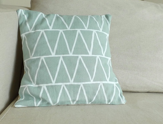 Stacked Triangles pillow from Erin Dollar
