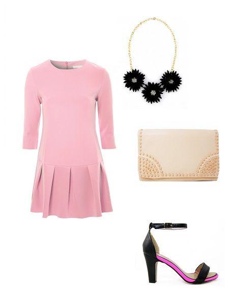 Internetowy Magazyn, trendy, wiosna 2015, różowy kolor, sukienka, kopertówka, szpilki, Monashe, http://magazyn.modadamska.waw.pl