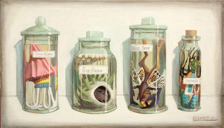Specimen A, oil on canvas by Katherine Reekie