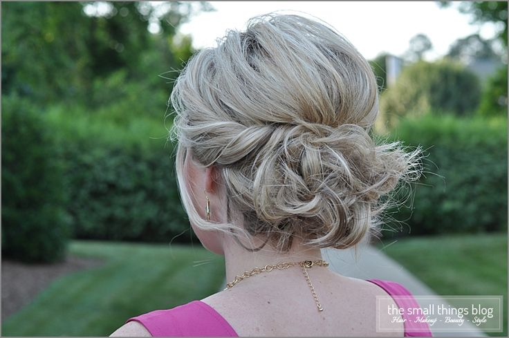 The Small Things Blog: Twisted Updo. This would be really good for when my hair is more layered.