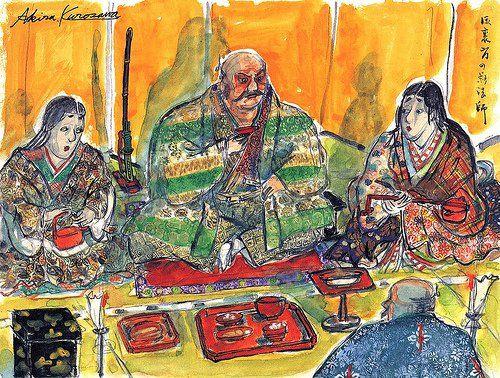 Akira Kurosawa storyboards pintados