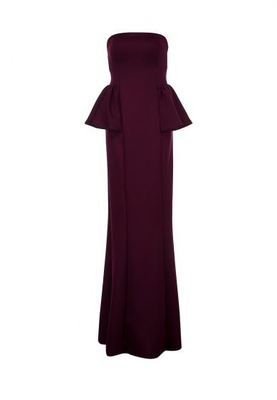 Элегантное платье-бандо Goddiva выполнено из мягкого стрейчевого трикотажа бордового цвета. Детал...