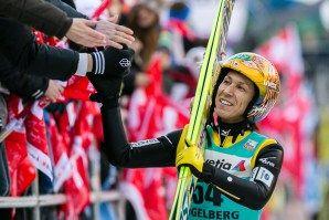 Noriaki Kasai beim FIS Skispringen Weltcup in Engelberg / Schweiz | Bildjournalist Kassel http://blog.ks-fotografie.net/pressefotografie/fis-skispringen-engelberg-schweiz-fotografiert/