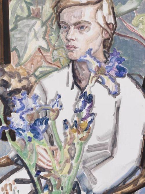 contemporary-art-blog: Elizabeth Peyton, Irises and Klara, Commerce St. 2012