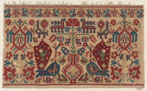 Greek, Ioman Islands, linen embroidery