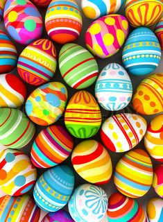 Easter eggs, public collection by Colourbox