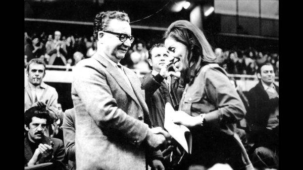 Salvador Allende y Gladys Marin