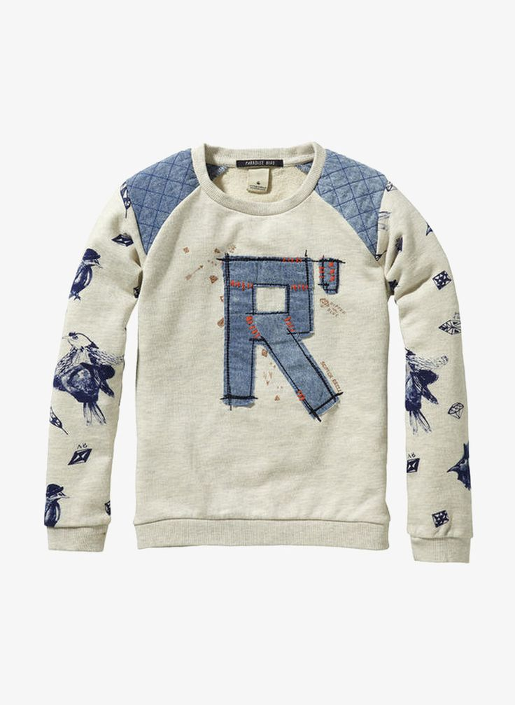Scotch R'Belle Fancy Sweatshirt - Ecru Melange