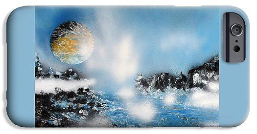 Light Rain IPhone 6 Case Printed with Fine Art spray painting image Light Rain by Nandor Molnar (When you visit the Shop, change the orientation, background color and image size as you wish)