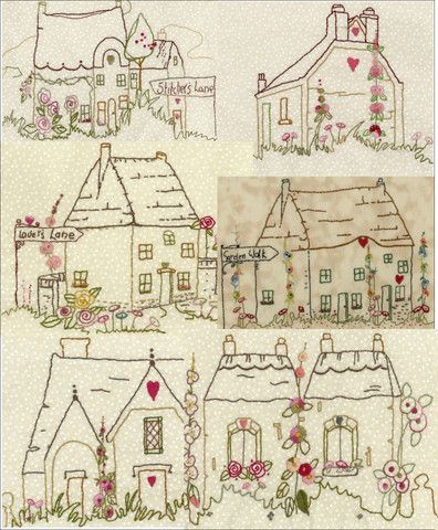 Iron On Hand Embroidery Patterns   The Village Square Collection No 1
