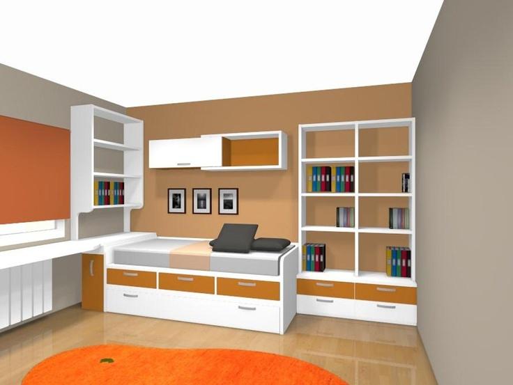 68 best dormitorios juveniles habitaciones juveniles - Dormitorios juveniles espacios pequenos ...