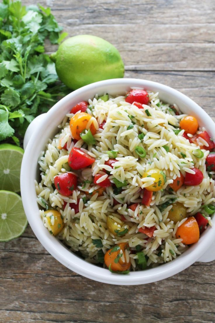 delicious cilantro lime orzo pasta salad