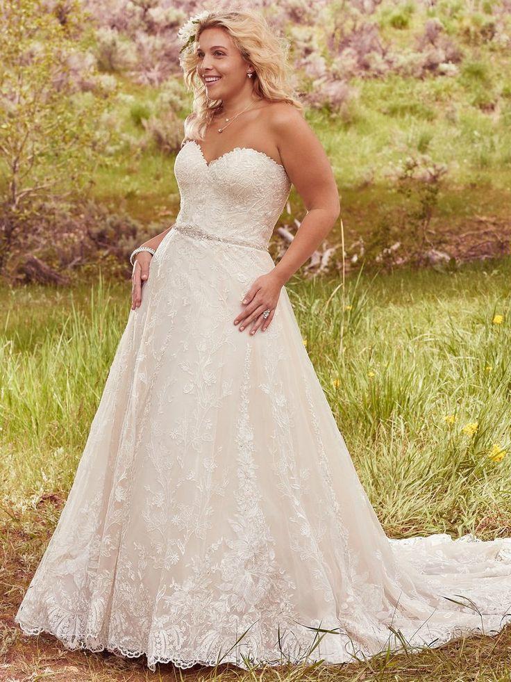 Plus Size Wedding Dresses with Crystal Belt