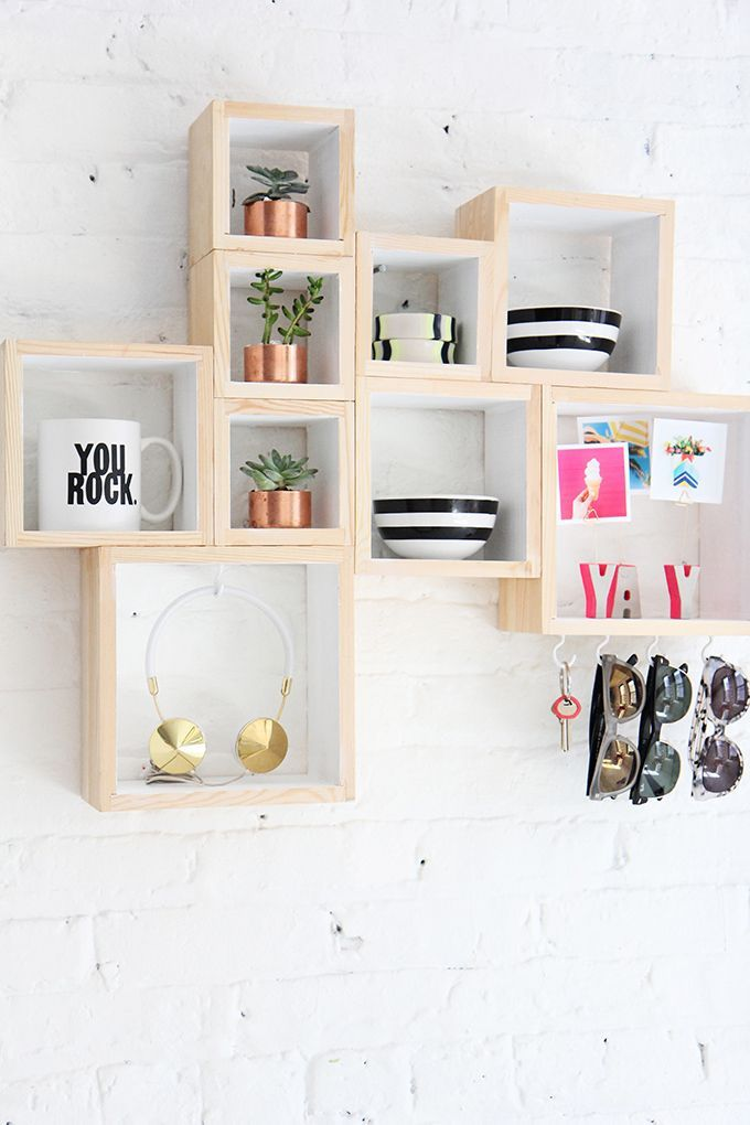 25 best ideas about box shelves on pinterest bookshelves homemade bookshe - Decoration etagere murale ...