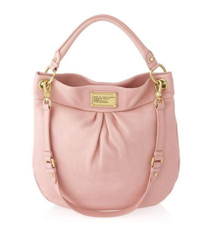 Marc by Marc Jacobs Classic Q Hillier Hobo Bag in Apricot Rose