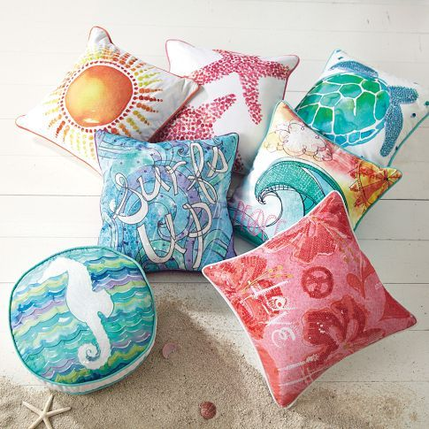 Surf N Sand Pillow Cover | PBteen