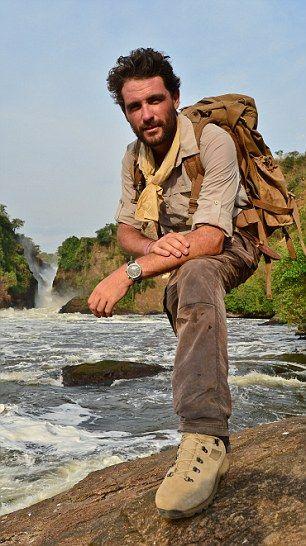 Best foot forward: Levison Wood, 32, at Murchison Falls in Uganda ...