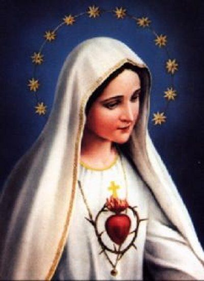 Painting - Mother of the Sacred Heart with 12 Star Crown