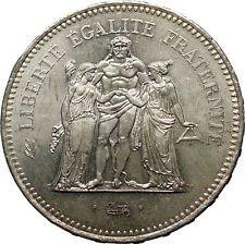 1978 France Liberté égalité fraternité HERCULES 50 Francs Silver Coin i52424 #ancientcoins http://ift.tt/1XkN8PU