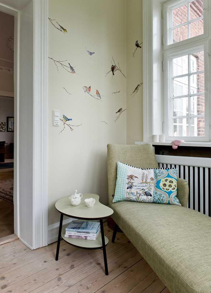[bird-inspired] reading space.  Put a bird on it!
