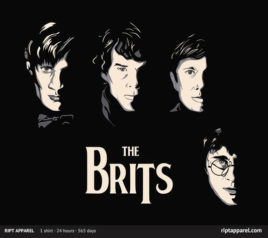 """The Brits"" featuring Harry Potter, Sherlock & Doctor Who."