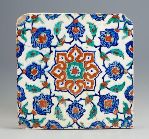 Tiles, 1575-1590. Faience. Iznik, Turkey. Via Museum of Applied Arts Budapest