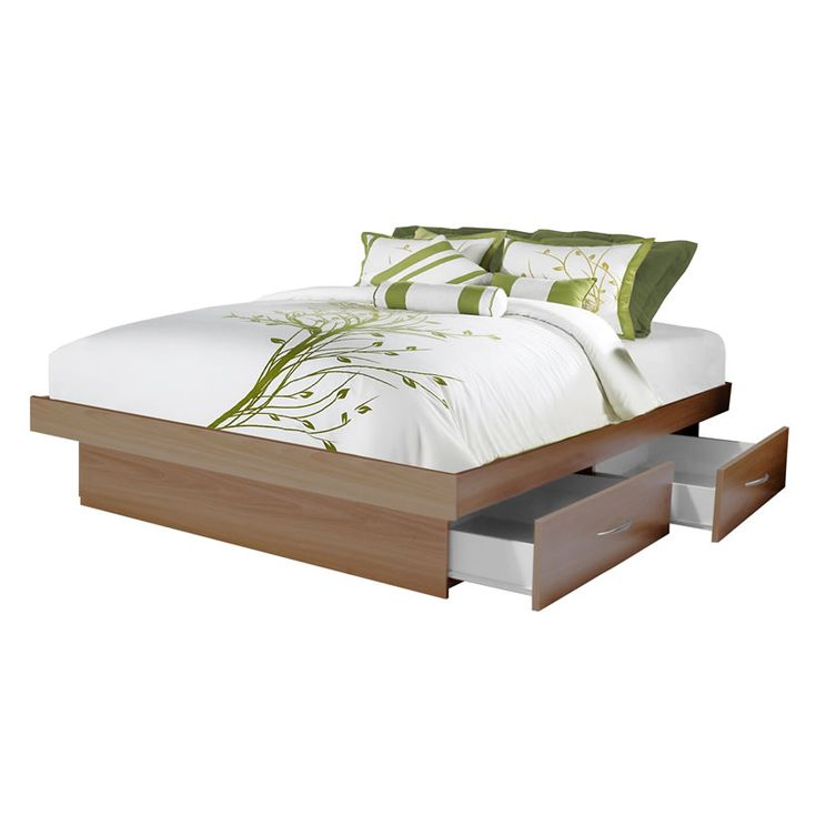 queen platform bed with 4 drawers