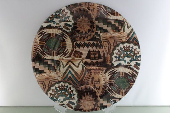 Southwestern Decorative Plate by NicolesFineCrafts on Etsy