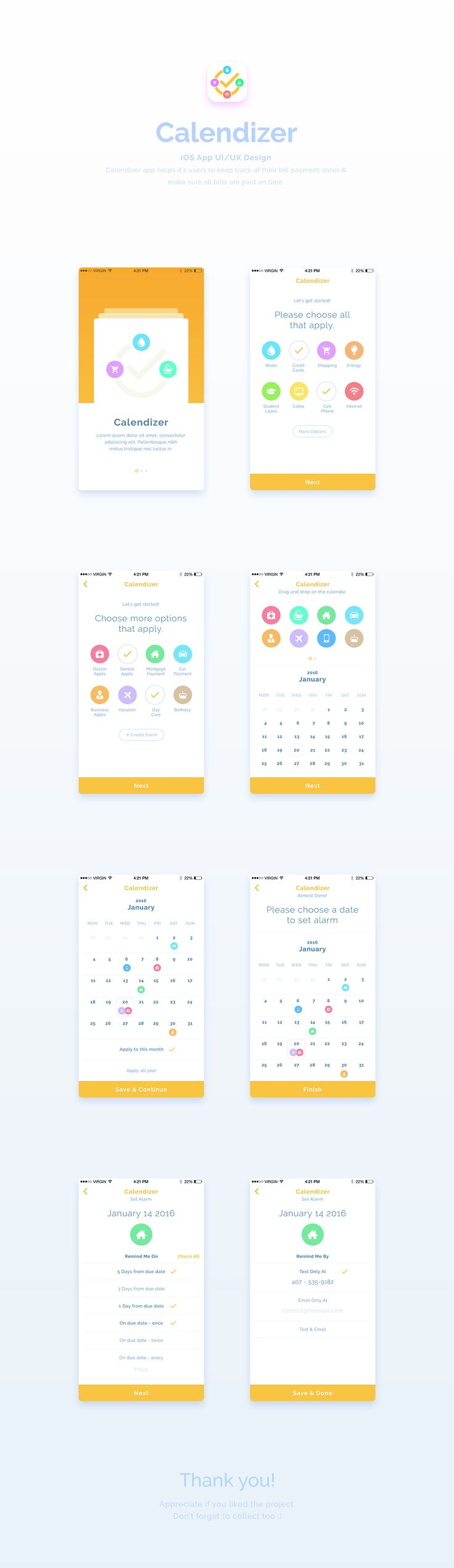 Calendizer | App UI / UX Design on Behance