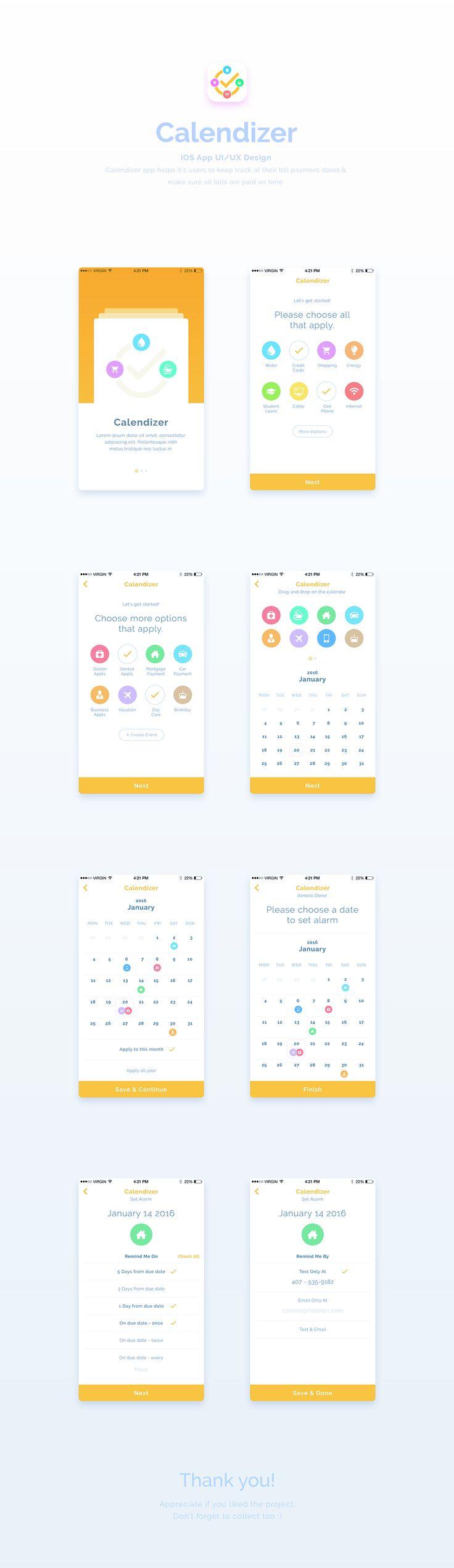 Calendizer | App UI / UX Design on Behance