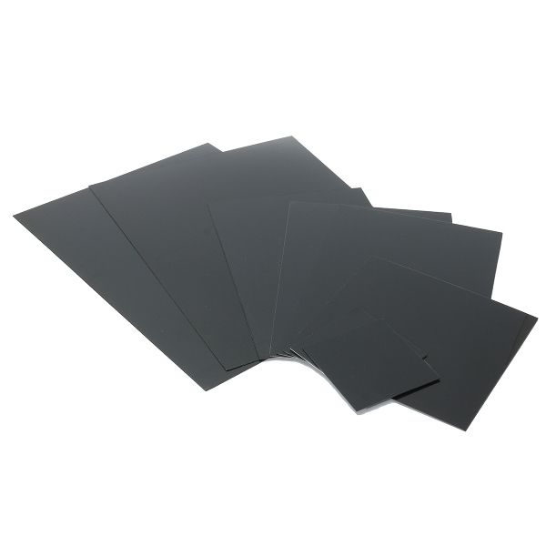 ABS Black Smooth Acrylonitrile Butadiene Styrene Sheet 1/1.5/2mm  Description: ABS Black Smooth Acrylonitrile Butadiene Styrene Sheet can be used to produce various types of models construction sand table advertising sculpture nameplate bathroom products machine housings power tools. Specifications: Material: ABS(Acrylonitrile-butdiene-styrene ) Color: Black Heat distortion temperature: 93  118 Dimension: 001 100x100x1 mm/3.94x3.94x0.039 Inch 002 100x100x2 mm/3.94x3.94x0.08 Inch 003…