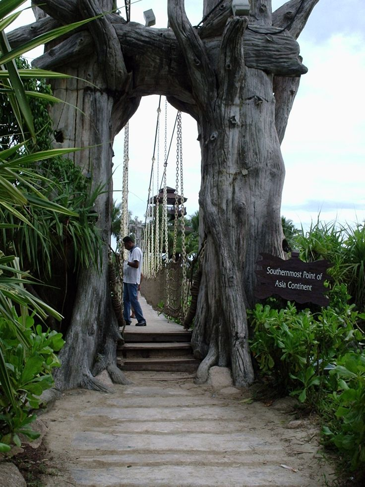 Suspension Bridge on Sentosa Island