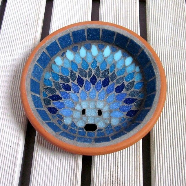Moonlight Hedgehog Mosaic Garden Water Dish £29.00