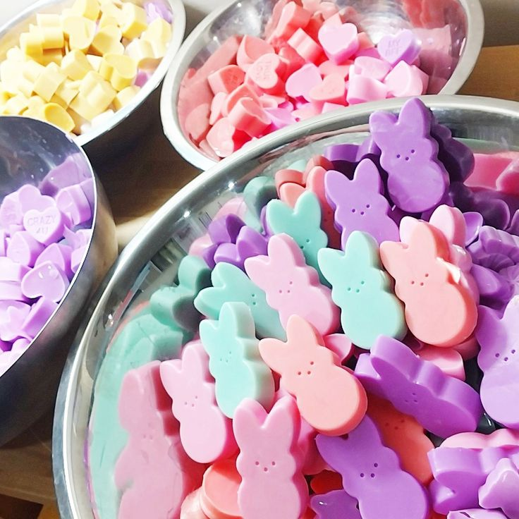 Hey peeps! We are getting ready for Easter with our Peep bunny soaps. And they smell like jelly beans. #easter #easterpeeps #bunny #soap #giftidea #etsyshop