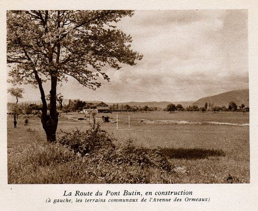 La route du Pont Butin en construction
