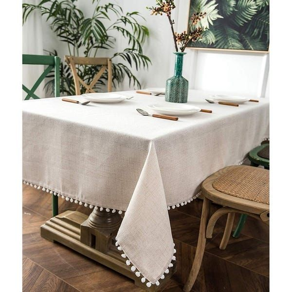 Overstock Com Online Shopping Bedding Furniture Electronics Jewelry Clothing More In 2020 Round Dining Room Table Dining Room Tablecloth White Table Cloth