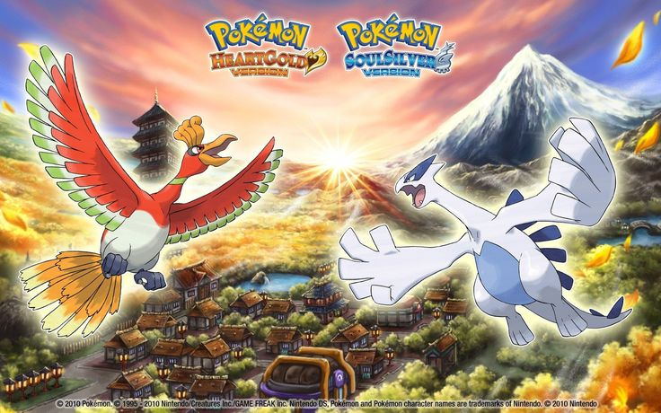Vídeo Game Pokemon  Pokémon Heart Gold Pokémon Soul Silver Lugia (Pokemon) Ho-oh (Pokémon) Papel de Parede