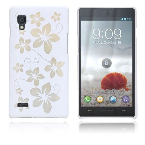 Flowers (White) LG Optimus L9 Case