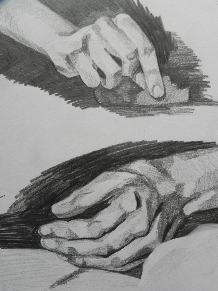 Jaime Cowdry. Hand studies. Pencil on paper. April 2012.