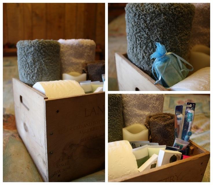 Wine Box Repurpose :: Guest Spa