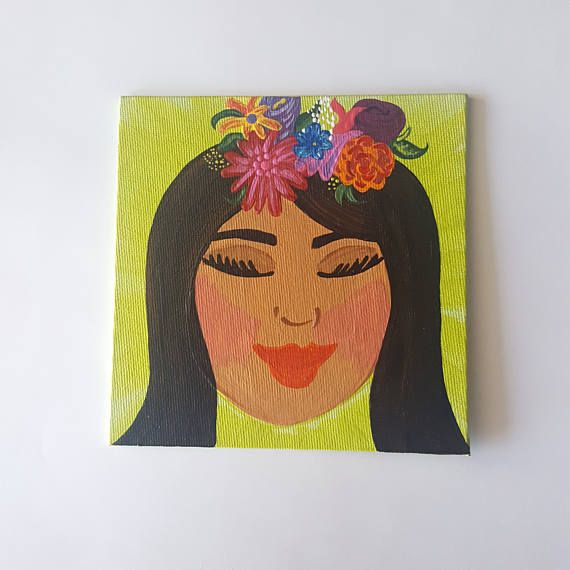 Check out this item in my Etsy shop https://www.etsy.com/ca/listing/519692678/dreamer-artwoman-artmujer-artfloral-head