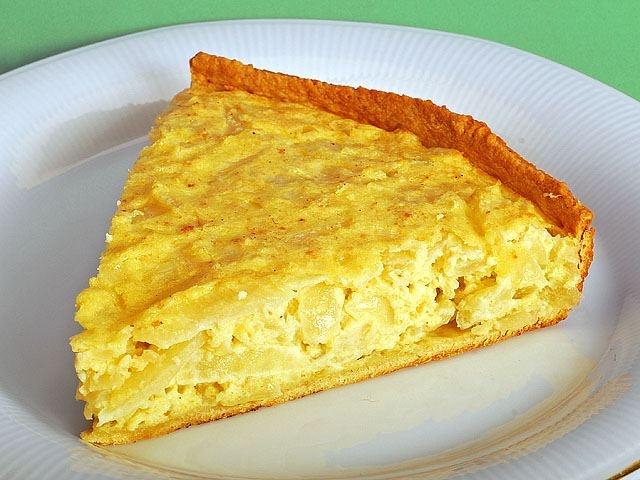 Recetas Para Celiacos, Tarta de Cebollas y Queso