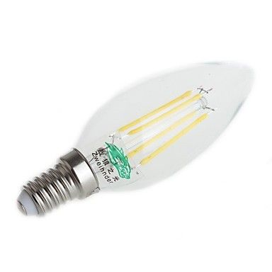 4W E14 LED Filament Bulbs C35 4 Dip LED 380 lm Warm White / Cool White Decorative AC 220-240 V