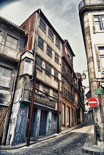 Rua dos Caldeireiros en Oporto