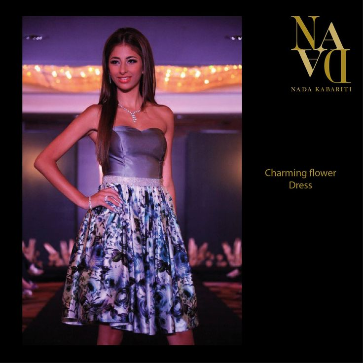 Charming Floral dress from Nada Kabariti's new collection.