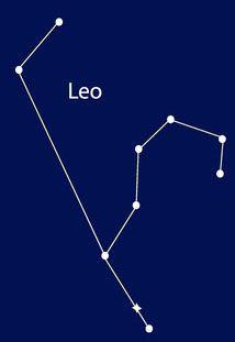 Die Abbildung zeigt das Sternbild Löwe